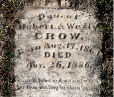 CROW, DAUGHTER - Carroll County, Arkansas   DAUGHTER CROW - Arkansas Gravestone Photos
