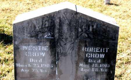CROW, ROBERT - Carroll County, Arkansas   ROBERT CROW - Arkansas Gravestone Photos