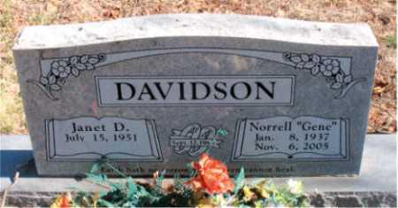 "DAVIDSON, NORRELL ""GENE"" - Carroll County, Arkansas | NORRELL ""GENE"" DAVIDSON - Arkansas Gravestone Photos"