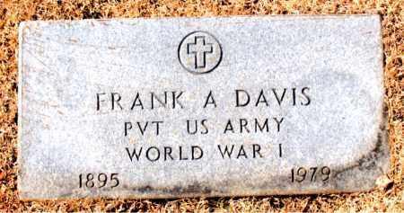 DAVIS (VETERAN WWI), FRANK A - Carroll County, Arkansas   FRANK A DAVIS (VETERAN WWI) - Arkansas Gravestone Photos