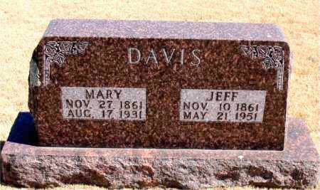 DAVIS, JEFF - Carroll County, Arkansas | JEFF DAVIS - Arkansas Gravestone Photos