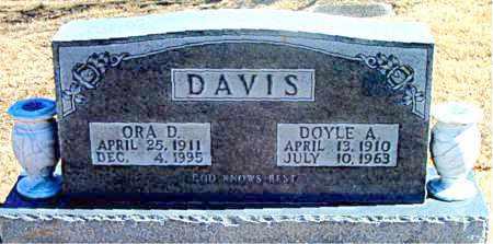 DAVIS, ORA D. - Carroll County, Arkansas | ORA D. DAVIS - Arkansas Gravestone Photos