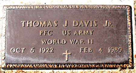 DAVIS (VETERAN WWII), THOMAS J - Carroll County, Arkansas | THOMAS J DAVIS (VETERAN WWII) - Arkansas Gravestone Photos