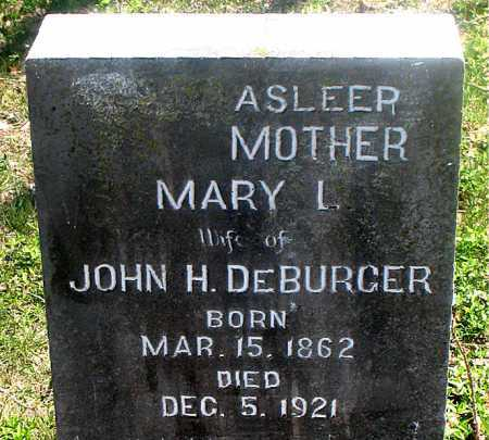 DEBURGER, MARY L. - Carroll County, Arkansas | MARY L. DEBURGER - Arkansas Gravestone Photos
