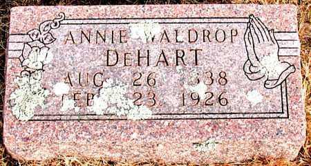 WALDROP DEHART, ANNIE - Carroll County, Arkansas | ANNIE WALDROP DEHART - Arkansas Gravestone Photos