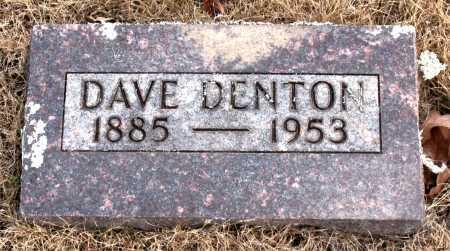 DENTON, DAVE - Carroll County, Arkansas | DAVE DENTON - Arkansas Gravestone Photos