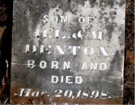 DENTON, INFANT SON - Carroll County, Arkansas | INFANT SON DENTON - Arkansas Gravestone Photos