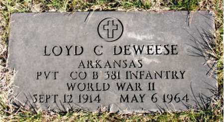 DEWEESE (VETERAN WWII), LOYD C. - Carroll County, Arkansas | LOYD C. DEWEESE (VETERAN WWII) - Arkansas Gravestone Photos