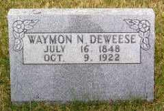 DEWEESE, WAYMON N. - Carroll County, Arkansas   WAYMON N. DEWEESE - Arkansas Gravestone Photos