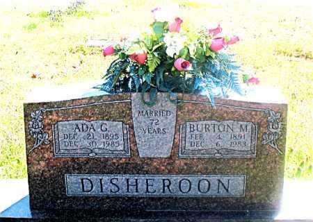 DISHEROON, BURTON M. - Carroll County, Arkansas | BURTON M. DISHEROON - Arkansas Gravestone Photos