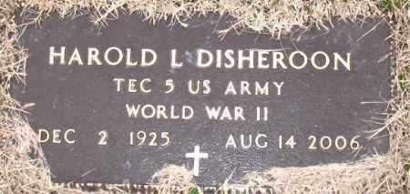 DISHEROON (VETERAN WWII), HAROLD L. - Carroll County, Arkansas | HAROLD L. DISHEROON (VETERAN WWII) - Arkansas Gravestone Photos
