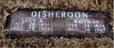 DISHEROON, WAITMAN - Carroll County, Arkansas   WAITMAN DISHEROON - Arkansas Gravestone Photos