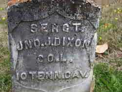 DIXON (VETERAN UNION), JOHN J - Carroll County, Arkansas | JOHN J DIXON (VETERAN UNION) - Arkansas Gravestone Photos