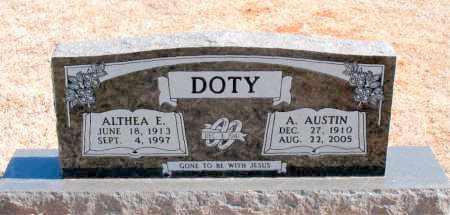 DOTY, A. AUSTIN - Carroll County, Arkansas   A. AUSTIN DOTY - Arkansas Gravestone Photos