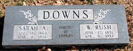 DOWNS, W.  RUSH - Carroll County, Arkansas | W.  RUSH DOWNS - Arkansas Gravestone Photos