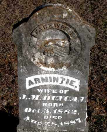 DUNCAN, ARMINTIE - Carroll County, Arkansas   ARMINTIE DUNCAN - Arkansas Gravestone Photos