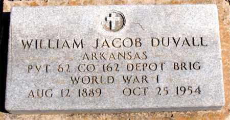 DUVALL (VETERAN WWI), WILLIAM JACOB - Carroll County, Arkansas | WILLIAM JACOB DUVALL (VETERAN WWI) - Arkansas Gravestone Photos
