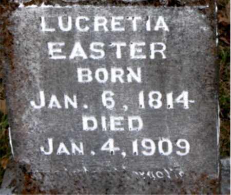 EASTER, LUCRETIA - Carroll County, Arkansas   LUCRETIA EASTER - Arkansas Gravestone Photos