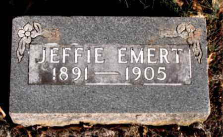 EMERT, JEFFIE - Carroll County, Arkansas | JEFFIE EMERT - Arkansas Gravestone Photos