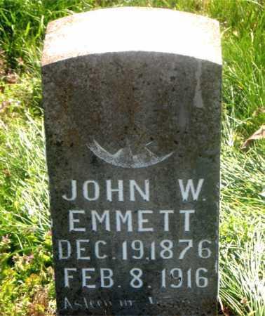 EMMETT, JOHN W. - Carroll County, Arkansas | JOHN W. EMMETT - Arkansas Gravestone Photos