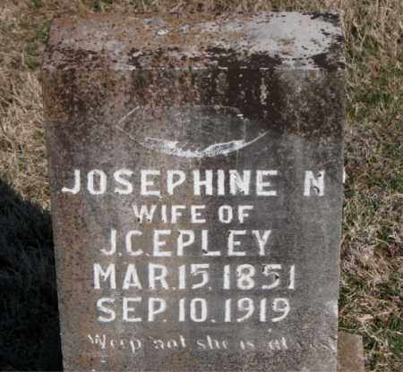 EPLEY, JOSEPHINE N - Carroll County, Arkansas | JOSEPHINE N EPLEY - Arkansas Gravestone Photos