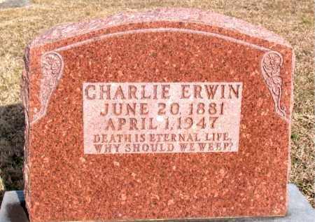 ERWIN, CHARLIE - Carroll County, Arkansas | CHARLIE ERWIN - Arkansas Gravestone Photos