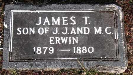 ERWIN, JAMES  T - Carroll County, Arkansas | JAMES  T ERWIN - Arkansas Gravestone Photos
