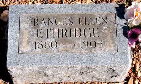 ETHRIDGE, FRANCES ELLEN - Carroll County, Arkansas | FRANCES ELLEN ETHRIDGE - Arkansas Gravestone Photos