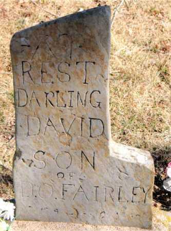 FAIRLEY, DAVID - Carroll County, Arkansas | DAVID FAIRLEY - Arkansas Gravestone Photos