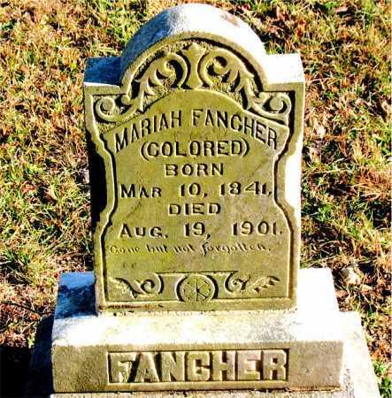 FANCHER, MARIAH - Carroll County, Arkansas   MARIAH FANCHER - Arkansas Gravestone Photos