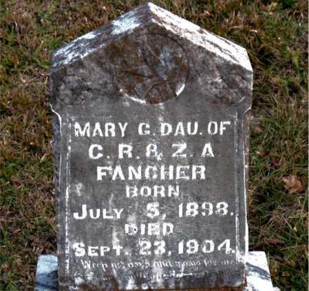 FANCHER, MARY  G. - Carroll County, Arkansas   MARY  G. FANCHER - Arkansas Gravestone Photos