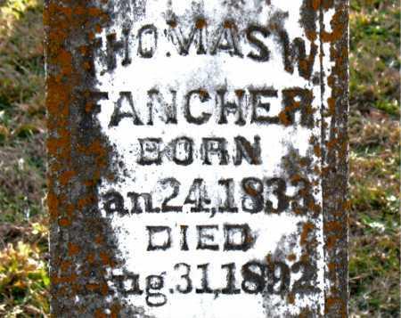 FANCHER, THOMAS W - Carroll County, Arkansas | THOMAS W FANCHER - Arkansas Gravestone Photos