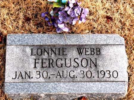 FERGUSON, LONNIE  WEBB - Carroll County, Arkansas   LONNIE  WEBB FERGUSON - Arkansas Gravestone Photos