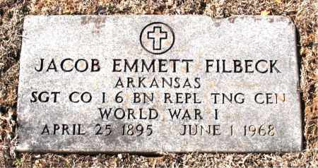 FILBECK  (VETERAN WWI), JACOB  EMMETT - Carroll County, Arkansas | JACOB  EMMETT FILBECK  (VETERAN WWI) - Arkansas Gravestone Photos