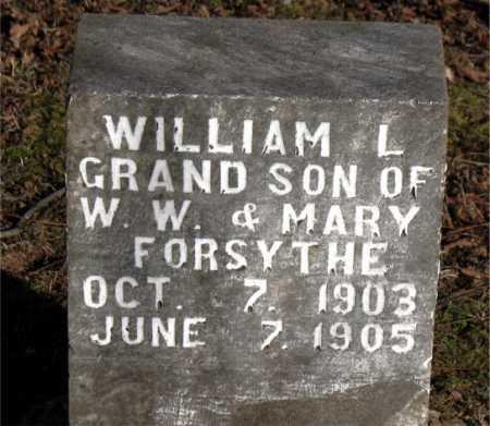FORSYTHE, WILLIAM L. - Carroll County, Arkansas | WILLIAM L. FORSYTHE - Arkansas Gravestone Photos