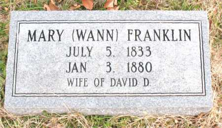 FRANKLIN, MARY - Carroll County, Arkansas | MARY FRANKLIN - Arkansas Gravestone Photos