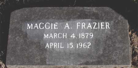 FRAZIER, MAGGIE A. - Carroll County, Arkansas   MAGGIE A. FRAZIER - Arkansas Gravestone Photos
