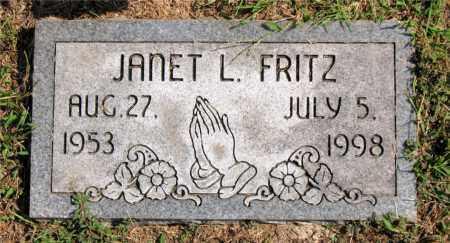 FRITZ, JANET L - Carroll County, Arkansas | JANET L FRITZ - Arkansas Gravestone Photos