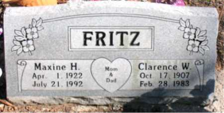FRITZ, CLARENCE - Carroll County, Arkansas   CLARENCE FRITZ - Arkansas Gravestone Photos