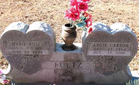 FULTZ, ARGIE CARSON - Carroll County, Arkansas | ARGIE CARSON FULTZ - Arkansas Gravestone Photos