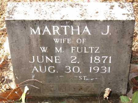 FULTZ, MARTHA J. - Carroll County, Arkansas   MARTHA J. FULTZ - Arkansas Gravestone Photos