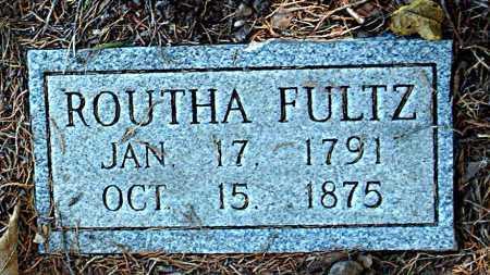 FULTZ, ROUTHA - Carroll County, Arkansas   ROUTHA FULTZ - Arkansas Gravestone Photos