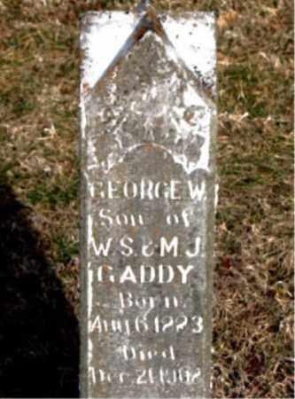 GADDY, GEORGE W - Carroll County, Arkansas   GEORGE W GADDY - Arkansas Gravestone Photos