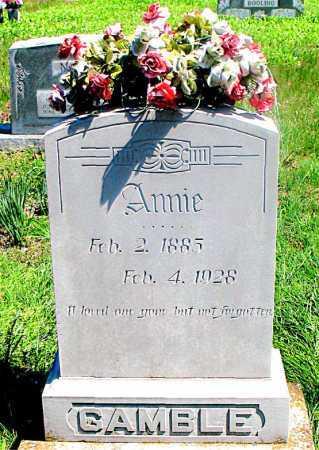 GAMBLE, ANNIE - Carroll County, Arkansas | ANNIE GAMBLE - Arkansas Gravestone Photos