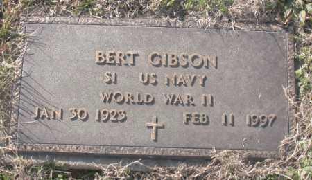 GIBSON (VETERAN WWII), BERT - Carroll County, Arkansas   BERT GIBSON (VETERAN WWII) - Arkansas Gravestone Photos