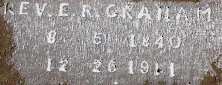 GRAHAM, REV., E. R. - Carroll County, Arkansas   E. R. GRAHAM, REV. - Arkansas Gravestone Photos