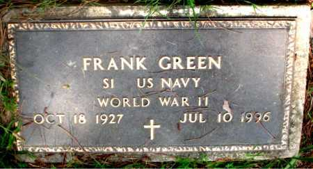 GREEN (VETERAN WWII), FRANK - Carroll County, Arkansas | FRANK GREEN (VETERAN WWII) - Arkansas Gravestone Photos