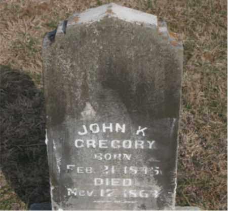 GREGORY, JOHN K - Carroll County, Arkansas | JOHN K GREGORY - Arkansas Gravestone Photos