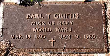 GRIFFIS  (VETERAN WWI), EARL T. - Carroll County, Arkansas | EARL T. GRIFFIS  (VETERAN WWI) - Arkansas Gravestone Photos