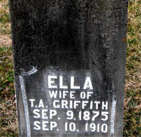 GRIFFITH, ELLA - Carroll County, Arkansas | ELLA GRIFFITH - Arkansas Gravestone Photos